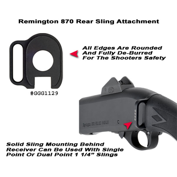 GG&G Remington 870 / 1100 / 1187 Rear Sling Adaptor
