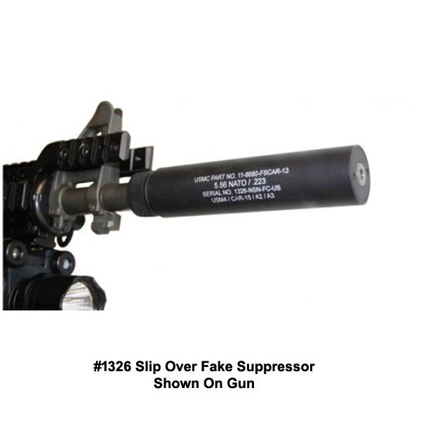 guntec ar 15 reverse thread slip over fake suppressor