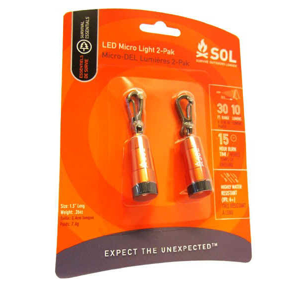 Survive Outdoors Longer LED Micro Light 2 Pack