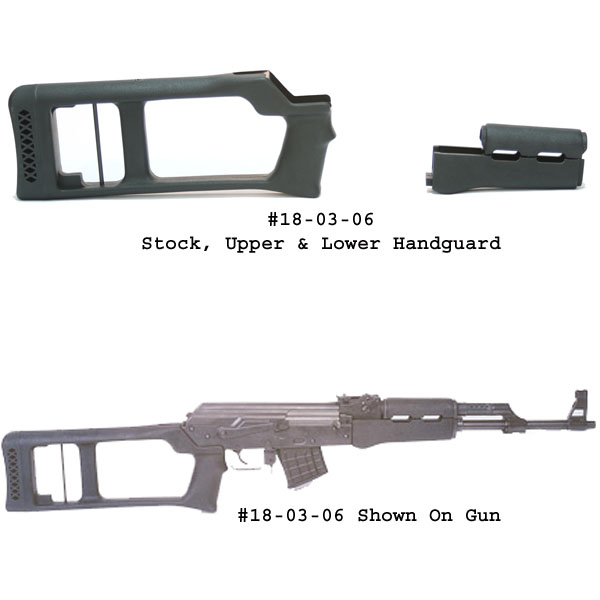 Choate MAK-90 / AK-47 Dragunov Stock And Upper & Lower Handguard - For Milled Receiver