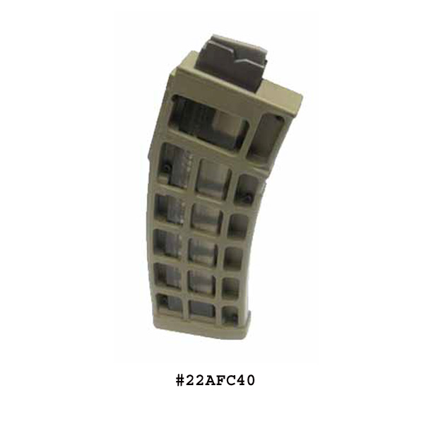 CMMG Evolution .22LR Long Skins Flat Dark Earth 25 Round Magazine -Restricted Item -Check Your Local and State Laws Prior To Ordering