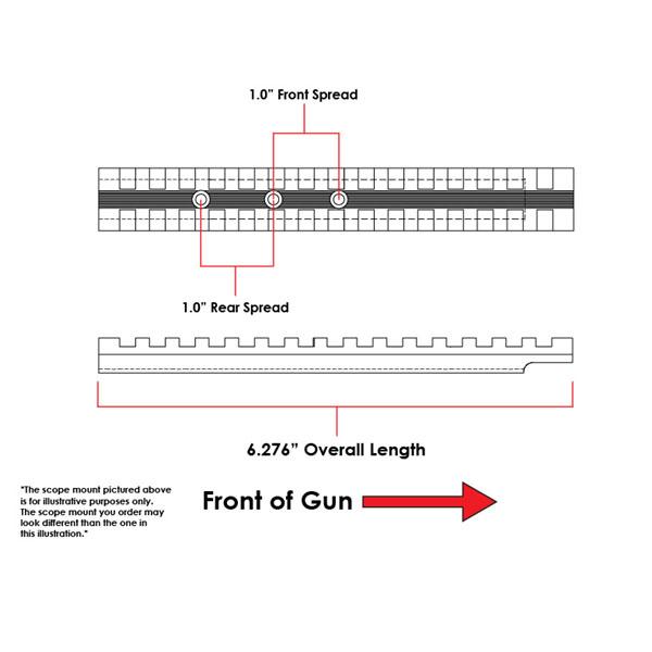 EGW Remington 597 Picatinny Rail Scope Mount 20 MOA Ambidextrous