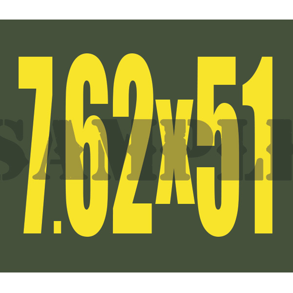Ammo Can Magnet 7.62X51  - Yellow Standard .30Cal