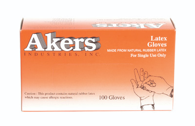 Akers Latex Exam Gloves - XL