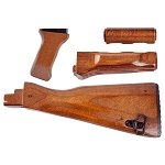 AKM AK-47  / AK-74 Laminated Stock Set - 4 Piece Set Includes Buttstock, Upper Handguard, Lower Handguard, And Grip