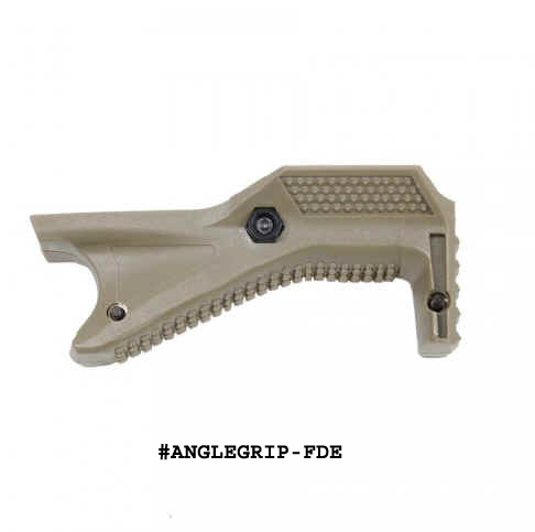 GunTec Angled Polymer Grip For Picatinny Rail - FDE