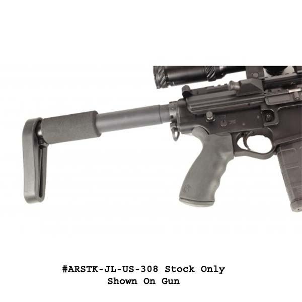 GunTec AR10 / LR-308 Skeleton Style Stock (308 Cal) Full Length Version