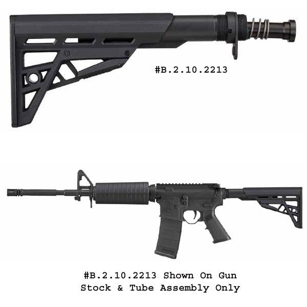 Adv Tech AR-15 TactLite Six Position Commercial Stock with Commercial  Buffer Tube Assembly