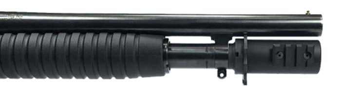 Shotgun Mag Extension With Rail For Flashlight