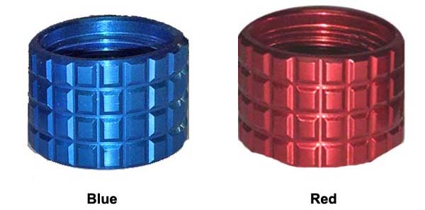 Blue Frag And Red Frag Thread Protectors