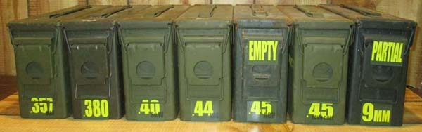 Ammo Can Stickers For .50cal And .30Cal Plastic Ammo Cans