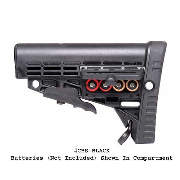 CAA AR-15 / M16 / M4 Tactical 6 Position Butt Stock with battery storage  (no tube)