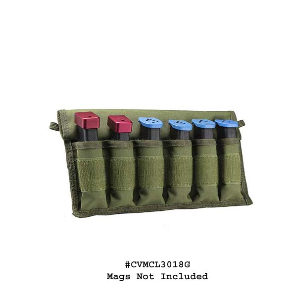 NcStar Large Pistol Magazines Carrier - Green