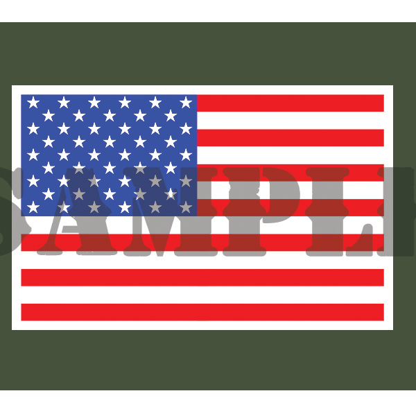 Ammo Can Magnet FLAG (Picture) - 30 Cal