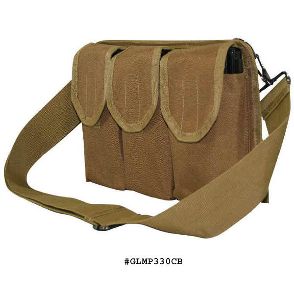 Galati Gear Shoulder Magazine Pouch with Belt Loop Holds 30 Rounds .223 Magazines and 20 Round .308 Magazines, Coyote Brown