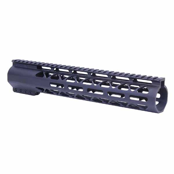 GunTec AR .308 12 Inch Air-Lok Series Compression Free Floating Handguard With Monolithic Top Rail .308 Cal - Anodized Black