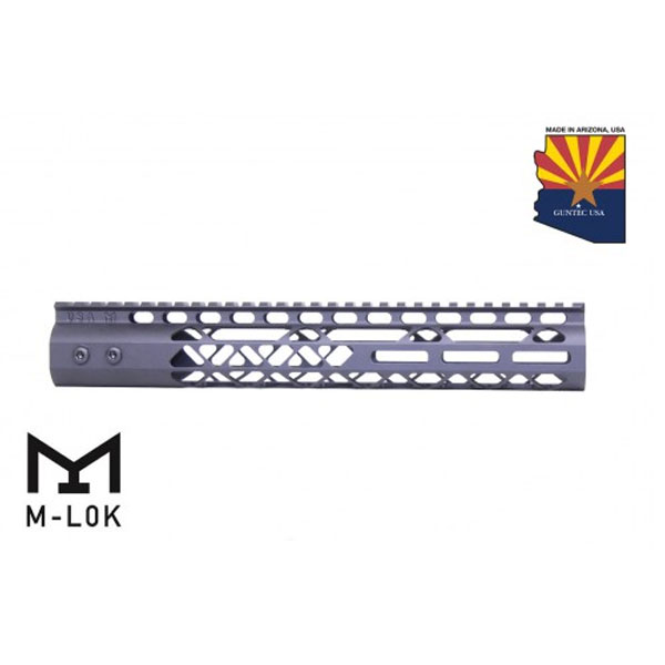 GunTec AR-15 12 Inch Air Lite M-Lok Free Floating Handguard With Monolithic Top Rail