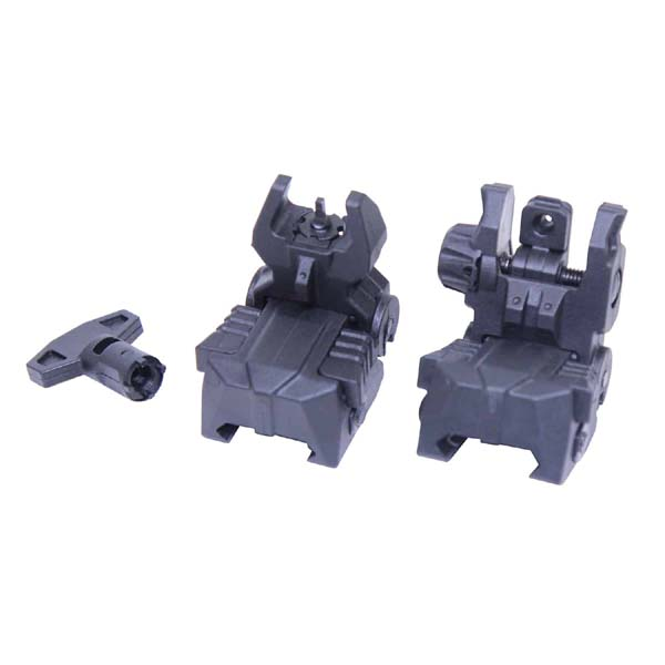 GunTec AR-15 Tactical Polymer Spring Assisted Folding Sights
