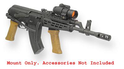 UltiMAK AK Forward Optic Mount M7-B For Hungarian AKs Having  Shorter-Than-Standard Gas Tubes
