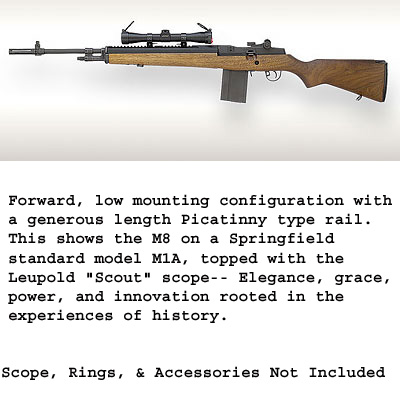 UltiMak M-14 / M1A Forward Optic Mount 1913 (Picatinny) style rail  Fits  Standard weight barrels only