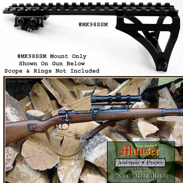 Brass Stacker Mauser See Thru Scout Scope Mount