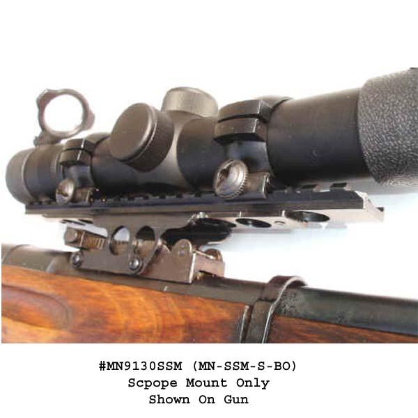 Brass Stacker Mosin Nagant Model 91 30 See Thru Steel Scout Scope Mount