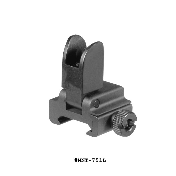 UTG AR-15 Low Profile Flip-up Front Sight With A2 Square Post Assembly For Handguard Or High Profile Gas Block
