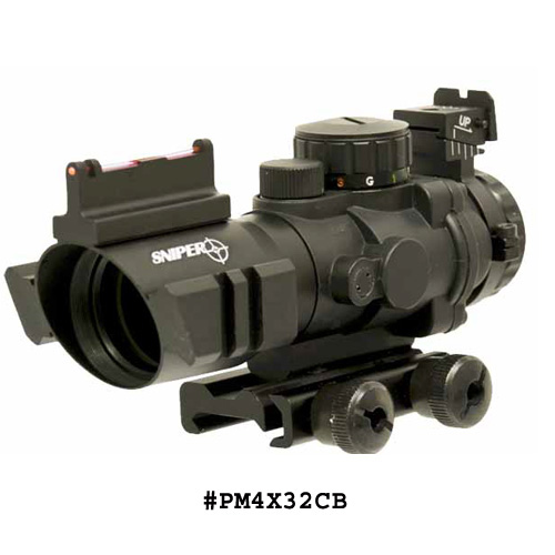 Lion Gears Tactical 4X32 Combat Illuminating Range Finding Scope Features of SNIPER Tactical 4X32 Prism Scope