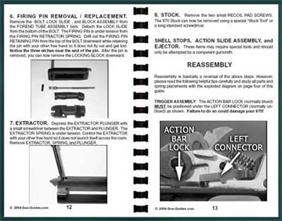 gun guides for remington 870 shotgun disassembly reassembly guide rh thecountryshed com Remington 1100 Trigger Disassembly Remington 1100 LT 20 Schematic