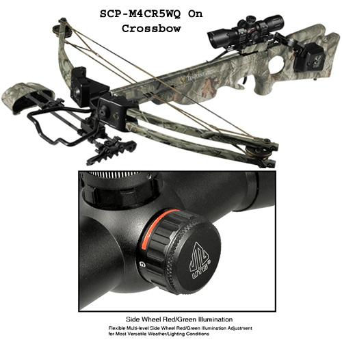 UTG 4X32 1 Inch Crossbow Scope Pro 5-Step RGB Reticle w/QD Rings
