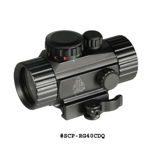 UTG 3.8 Inch ITA Red / Green Circle Dot Sight w/Integral QD Mount