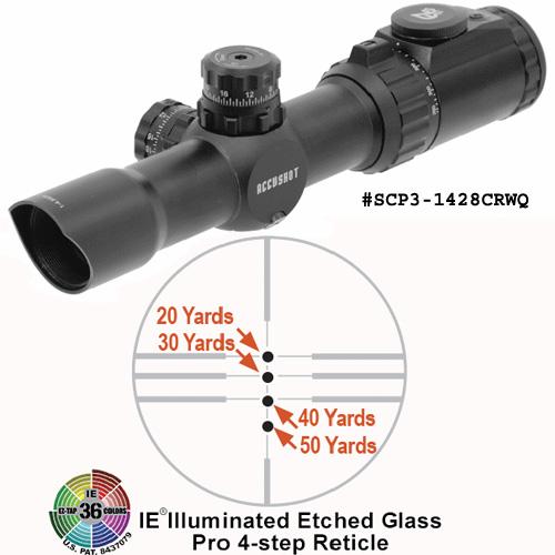UTG 30mm 36-color Crossbow Scope, 275-385 fps Compensation