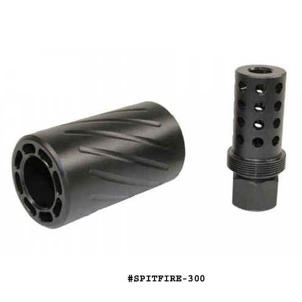 GunTec AR 300 Blackout /  308 Muzzle Comp With QD Blast Shield