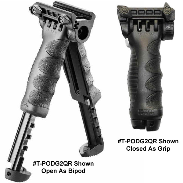 MAKO Tactical Vertical Foregrip With Integrated Adjustable Bipod- Gen 2