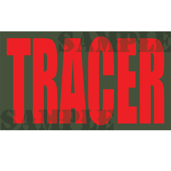 Ammo Can Magnet TRACER - RED .50Cal