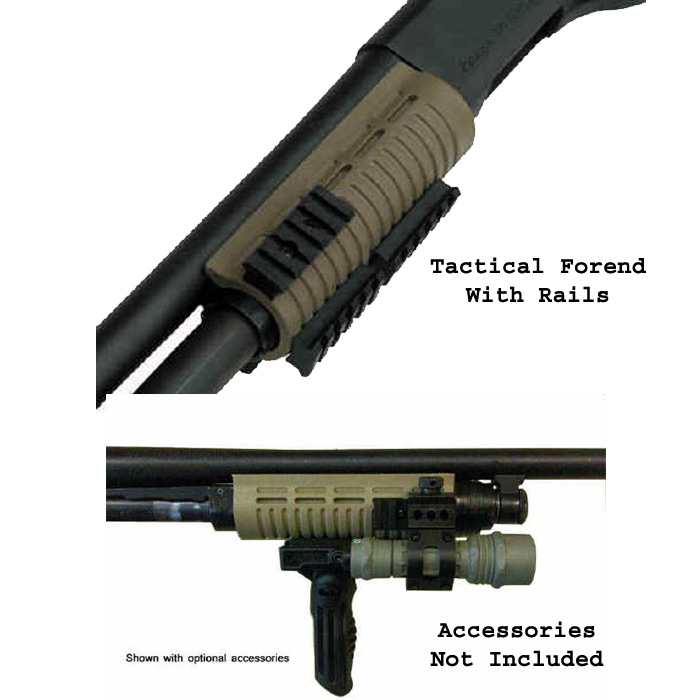 Phoenix Tech Tactical 12 GA Mossberg 500, 590, 835 Forend With Rails