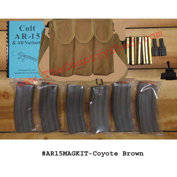 AR-15 Mag Kit- Coyote Brown-Restricted Item -Check Your Local and State Laws Prior To Ordering