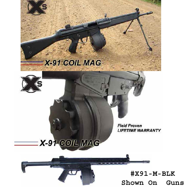 X-91 50 Round Drum Magazine for HK91 G3 -Restricted Item -Check Your Local  and State Laws Prior To Ordering