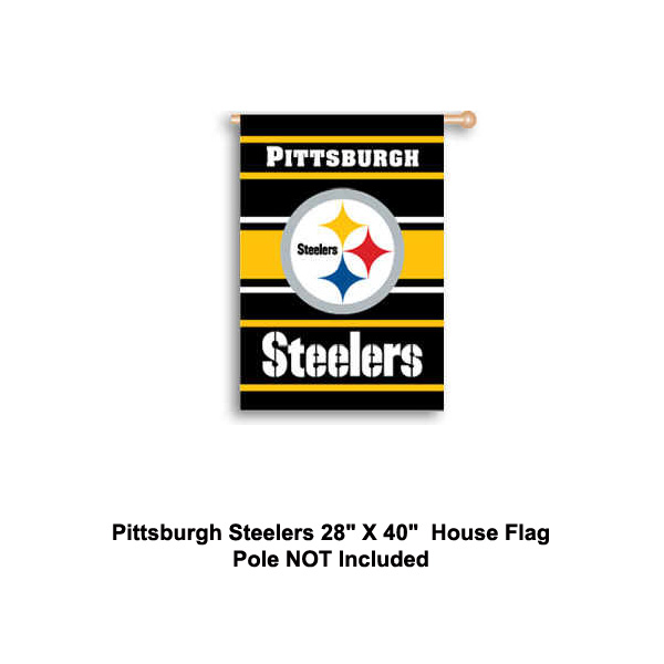 NFL Licensed Pittsburgh Steelers 28 X 40 Inch 2 Sided House Flag