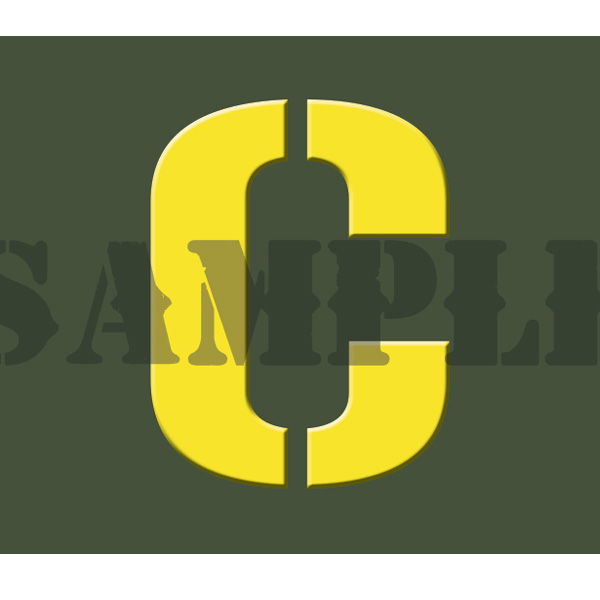 Ammo Can Sticker C - Yellow Stencil .30Cal