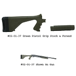 Choate Mossberg 500 12ga Mark 5 Green Pistol Grip Stock and Long Forend Set