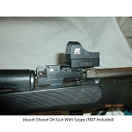 S&K SKS Scout Mount Insta Mount For Weaver Style Red Dot Sights (Not Included)