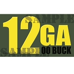 Ammo Can Magnet 12GA 00 BUCK - Yellow Standard .50Cal