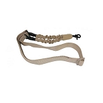 GunTec One Point Bungee Sling With QD Snap Hook- Tan