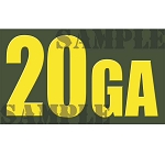 Ammo Can Sticker 20GA - Yellow Standard .50Cal