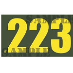 Ammo Can Magnet .223  - Yellow Standard .50Cal