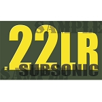Ammo Can Magnet .22LR SUBSONIC- Yellow Standard .50Cal