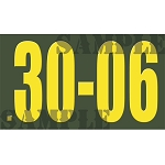 Ammo Can Sticker .30-06 - Yellow Standard .50Cal