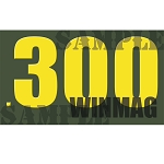 Ammo Can Magnet .300 WINMAG  - Yellow Standard .50Cal