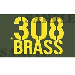 Ammo Can Magnet .308 BRASS  - Yellow Stencil .50Cal